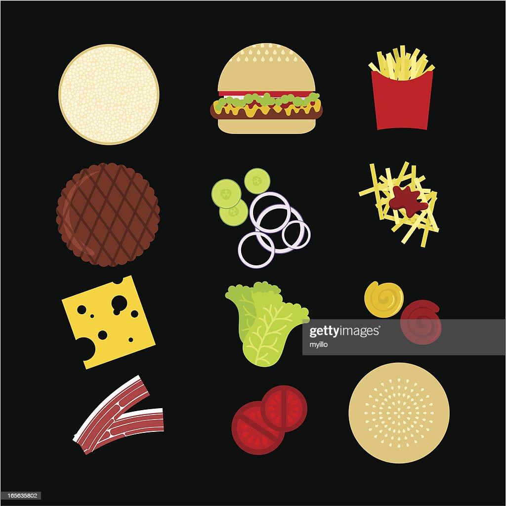 Hamburger : stock illustration