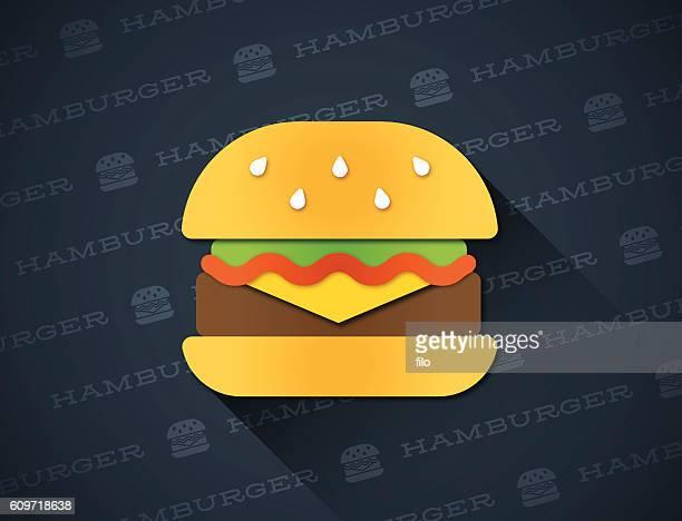 hamburger - hamburger stock illustrations, clip art, cartoons, & icons