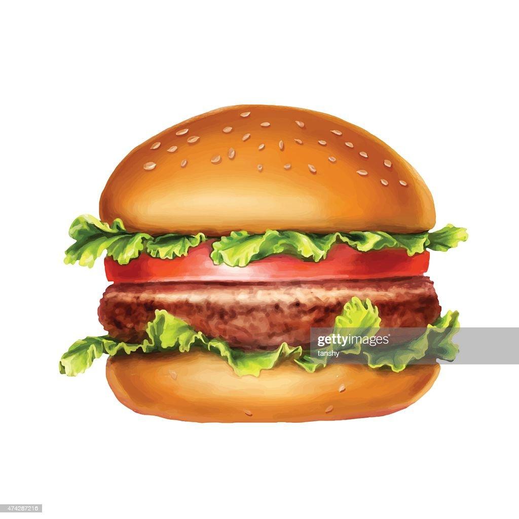 hamburger, vector