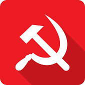 Hammer and Sickle Icon Silhouette