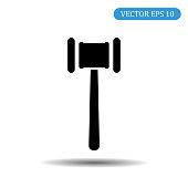 Hammer black icon.Vector illustration eps 10