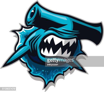 Hammer Head Shark Jump stock illustration - Getty Images