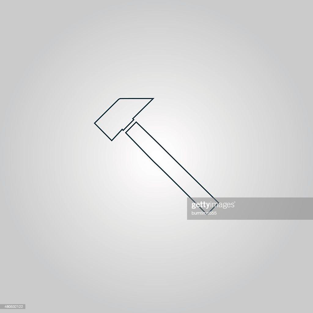 Symbol mit dem hammer : Vektorgrafik