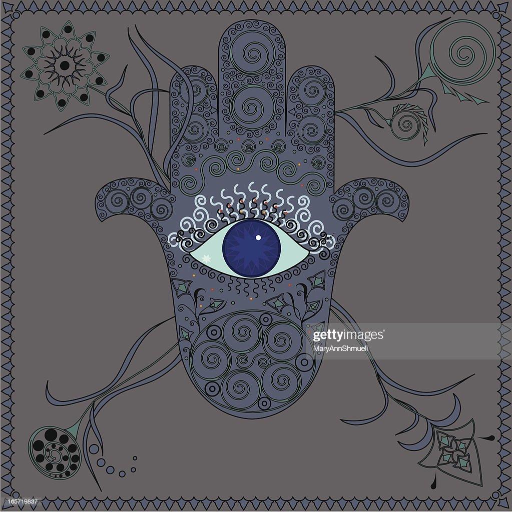 Hamsa Hand With Eye Vector Art Getty Images