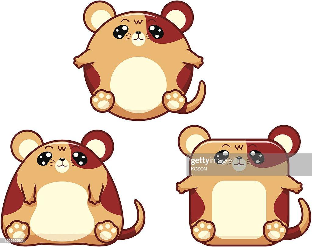 hamster cartoon vector art getty images