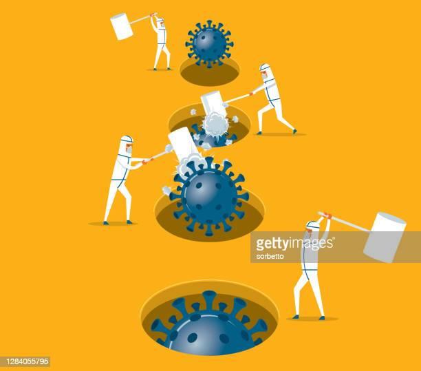 hamster game - coronavirus - rebellion stock illustrations