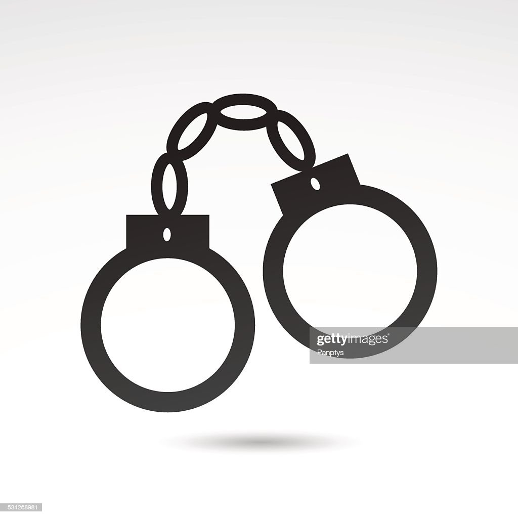 Hancuffs icon isolated on white background.