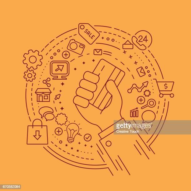 Main et cercle Concept