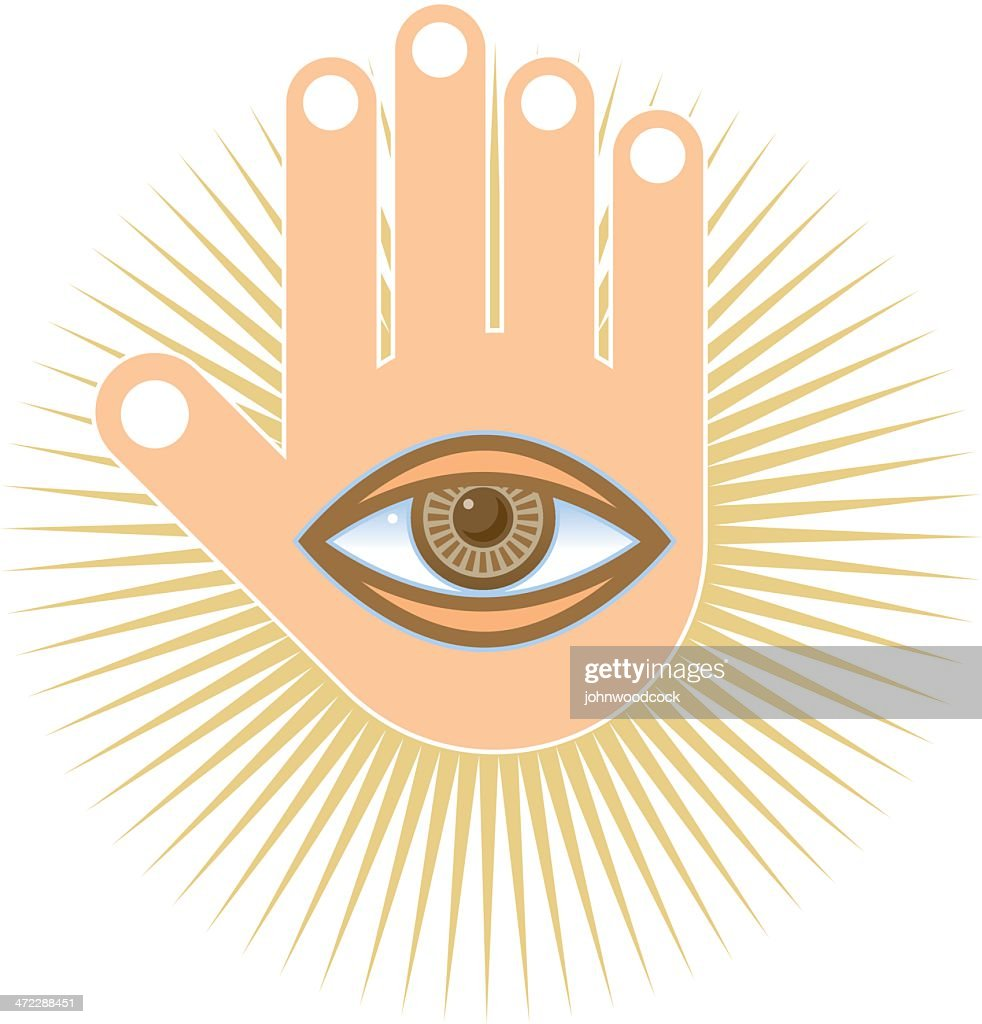 Hand And Eye Symbol Vector Art Getty Images