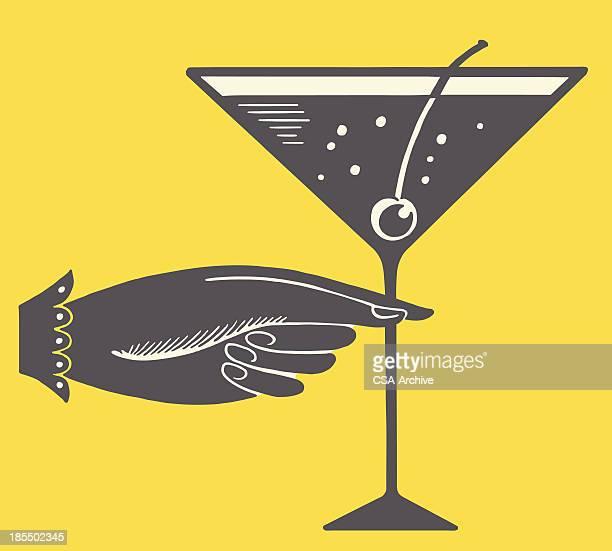 Hand and Martini