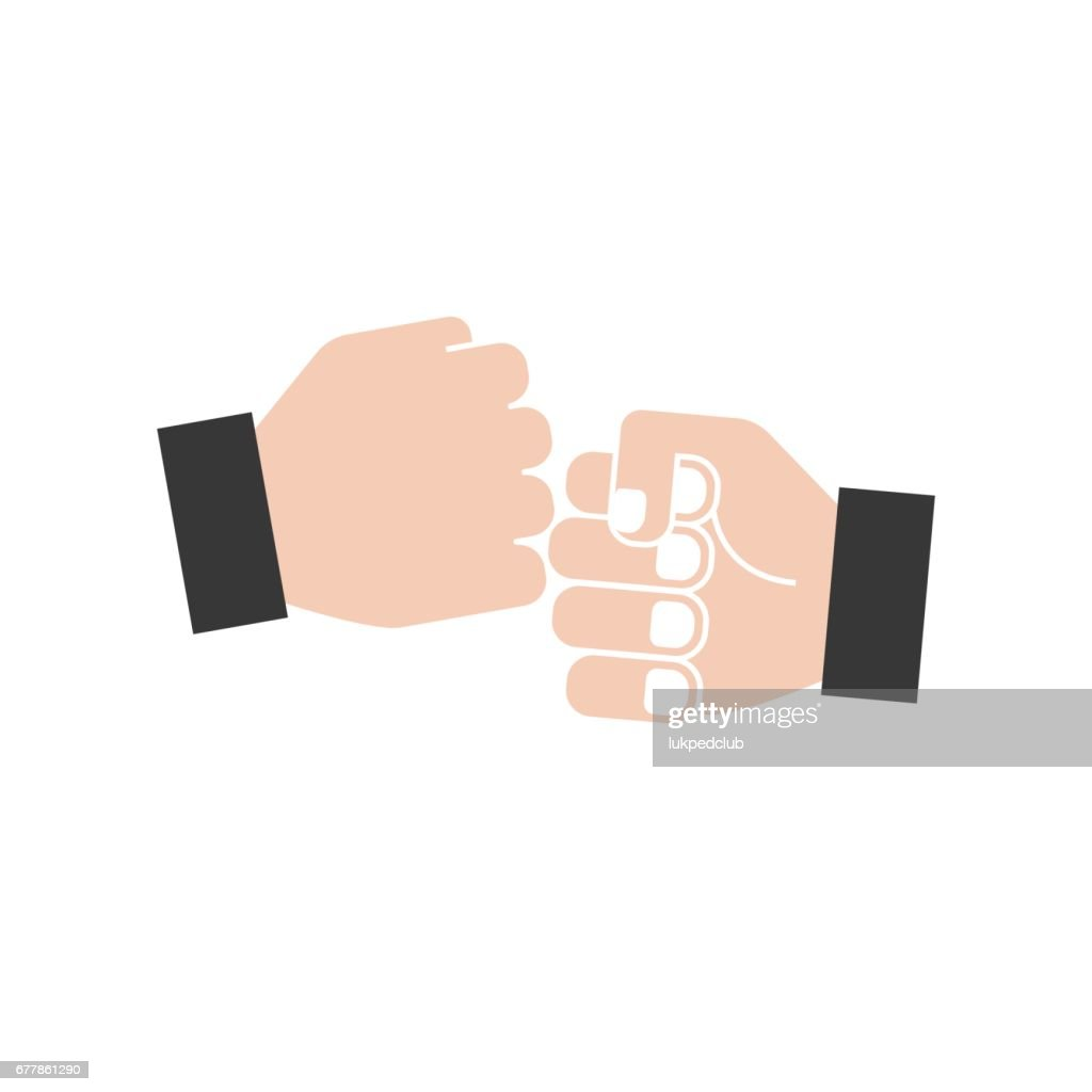 hand bumping icon