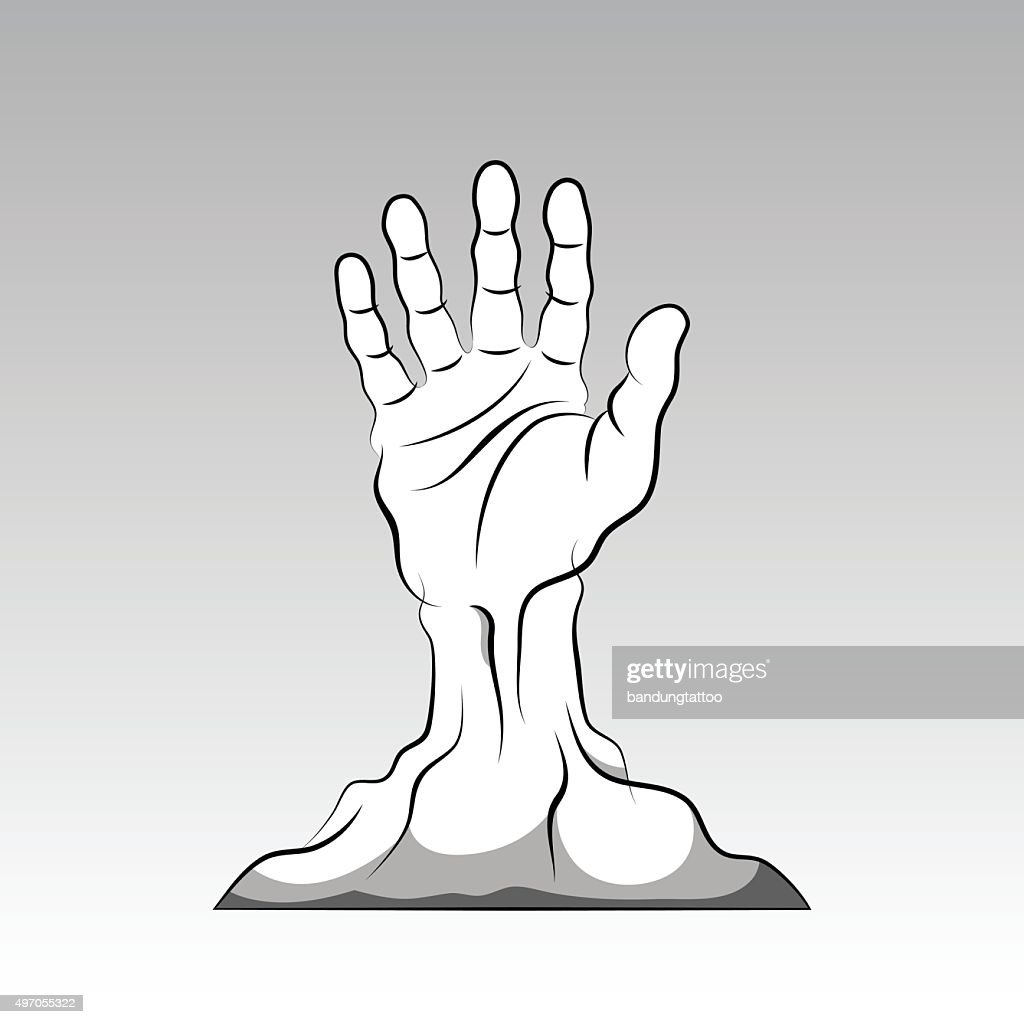 Hand coming out from the ground