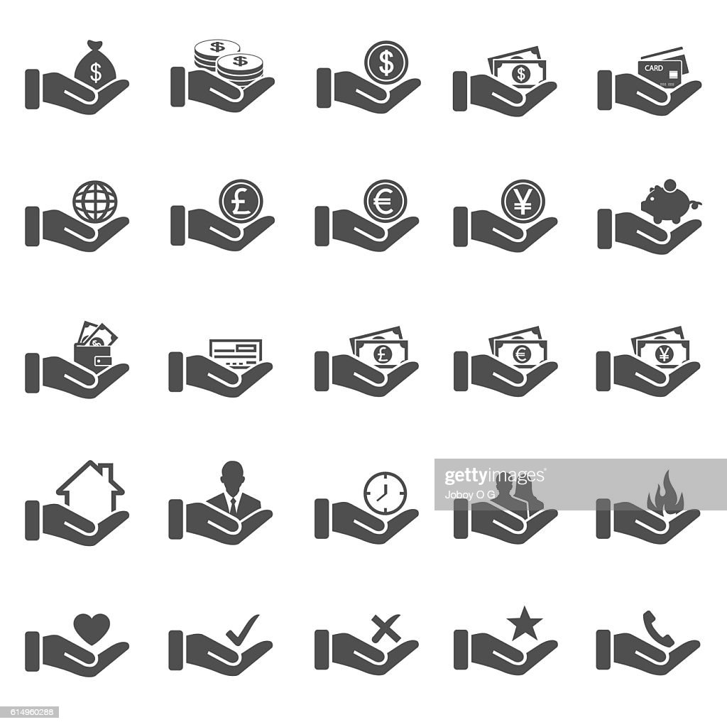 Hand concept icons