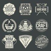 Hand Craft Insignias Logotypes Template Set.