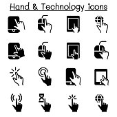 Hand & Digital Device icons