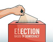 Hand down the ballot paper in box for election