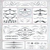 Hand Draw Calligraphic and Decorative Design Elements