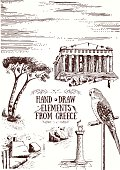 Hand Draw Elements from Greece