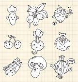 hand draw Vegetables element