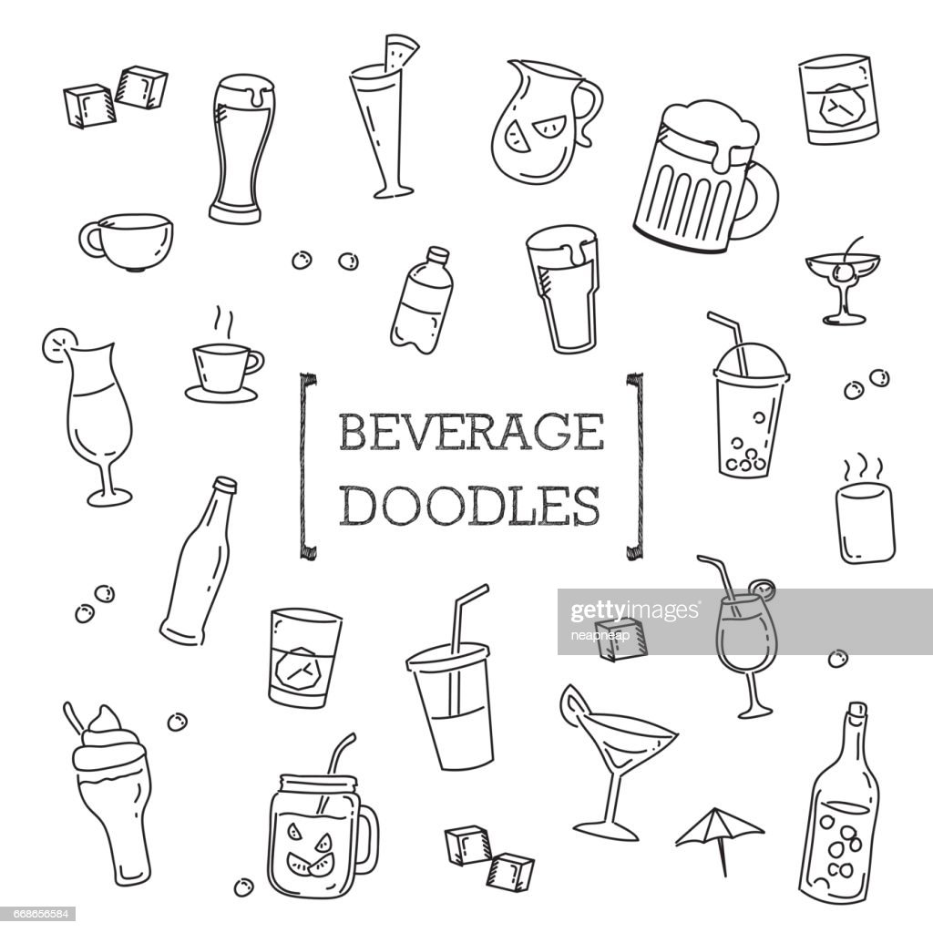 Hand drawing styles of Beverage.