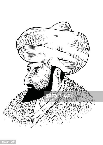 Hand-Zeichnung-Sultan