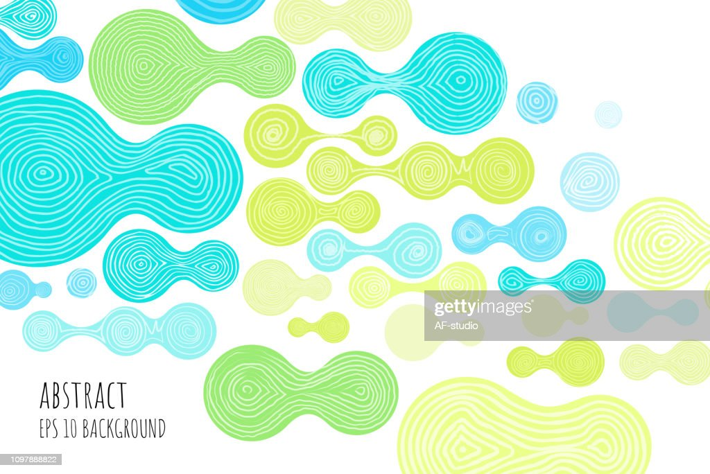 Hand Drawn Abstract Background : stock vector