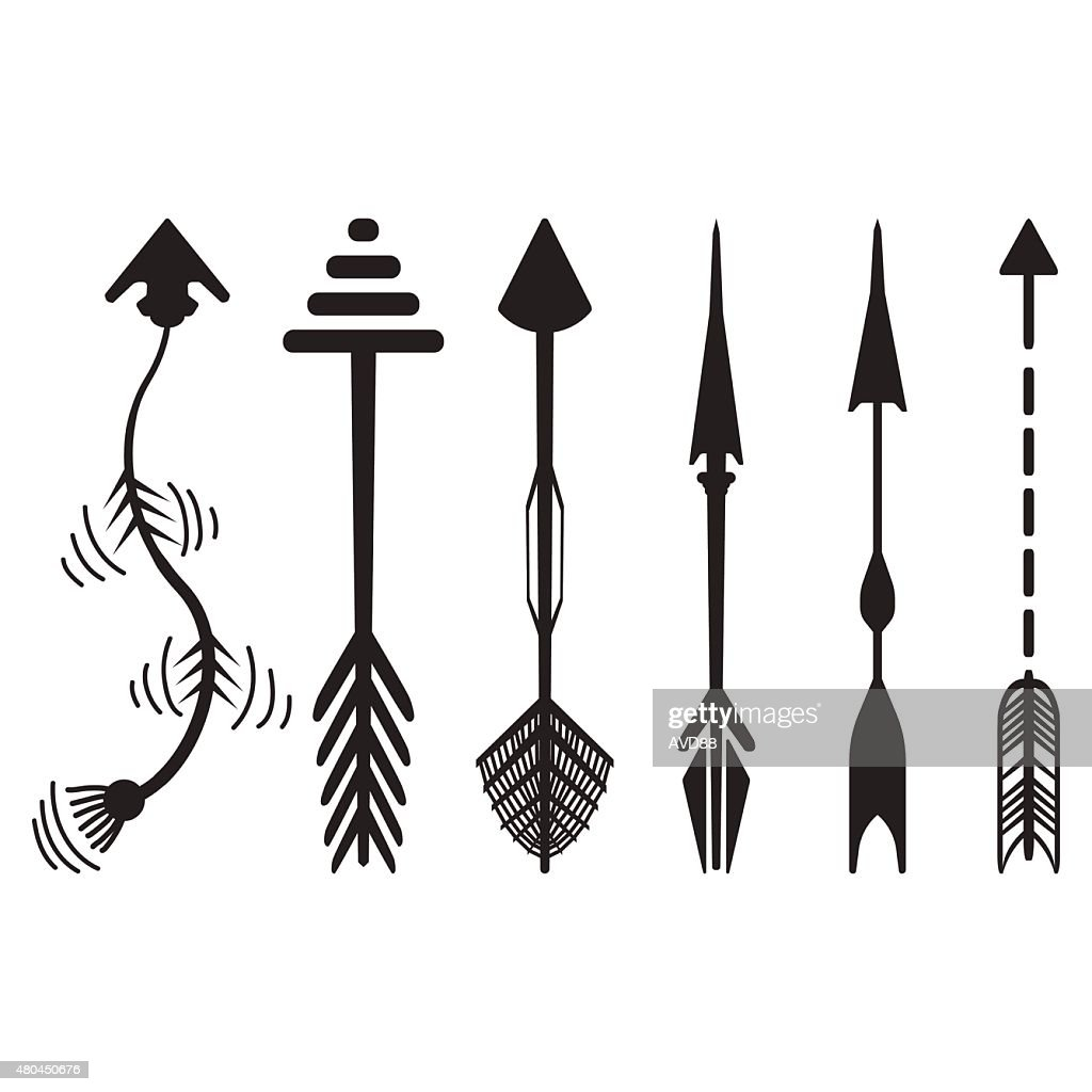 Hand drawn arrows graphic set