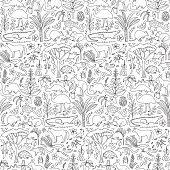 Hand drawn Australia seamless pattern