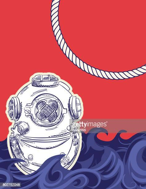 Hand Drawn Backgrounds With Nautical Elements