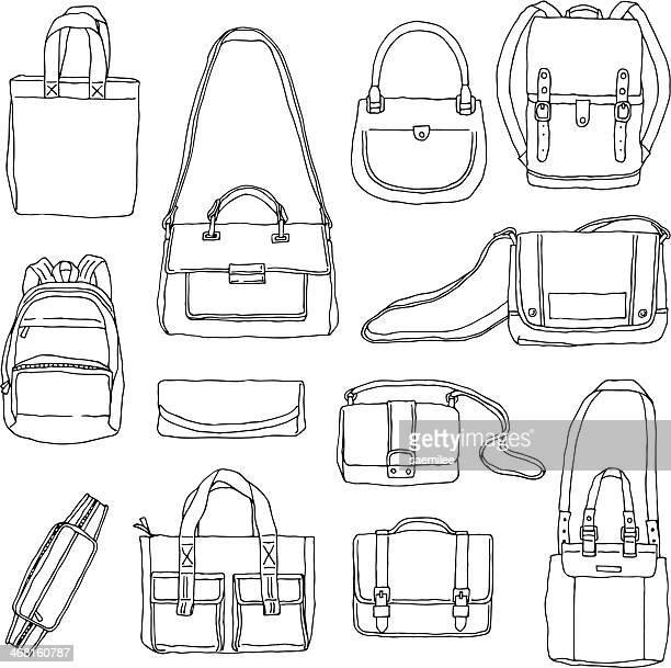 Hand Drawn Bags