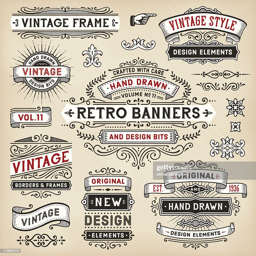 Hand Drawn Banners and Frames
