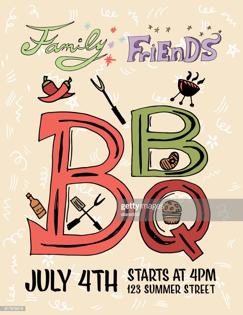 Hand drawn bbq party invitation and design elements vector art hand drawn bbq party invitation and design elements vector art stopboris Gallery