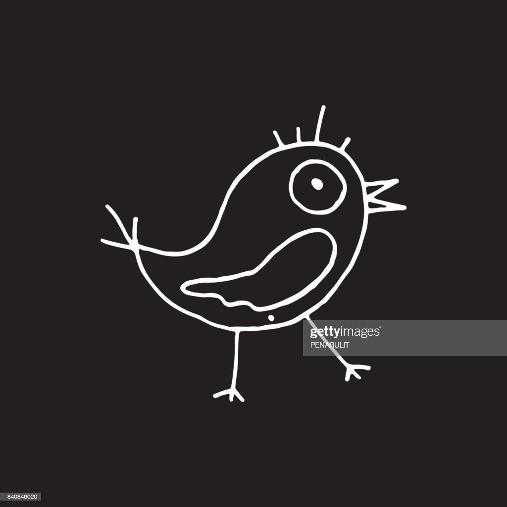 Hand Drawn Bird Vector Illustration Art