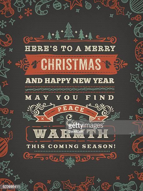 Hand Drawn Blackboard Christmas Wishes