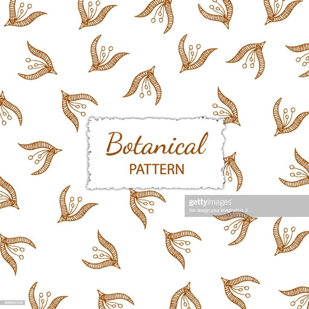 Hand Drawn Botanical Pattern Background
