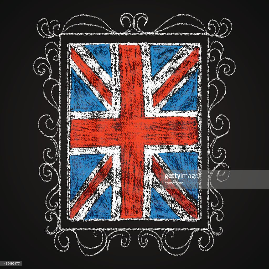 Hand drawn british flag.