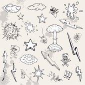 Hand drawn cartoon design