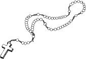 Hand drawn chaplet. Vector illustration.