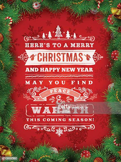 hand drawn christmas wishes - mistletoe stock illustrations, clip art, cartoons, & icons