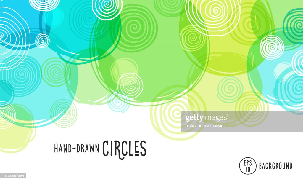 Hand Drawn Circles Background : stock illustration
