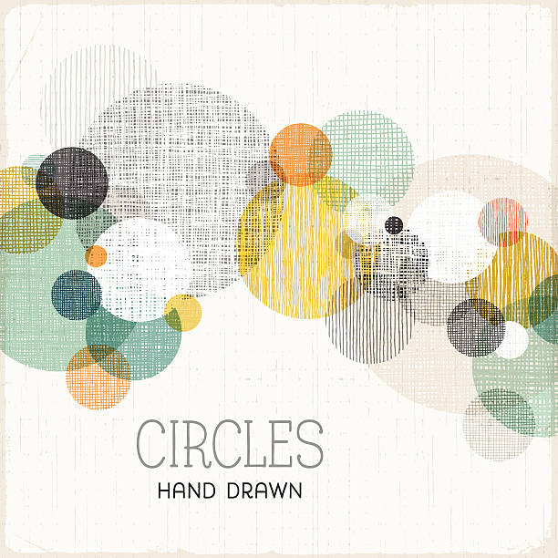 hand drawn circles background - pencil drawing stock illustrations