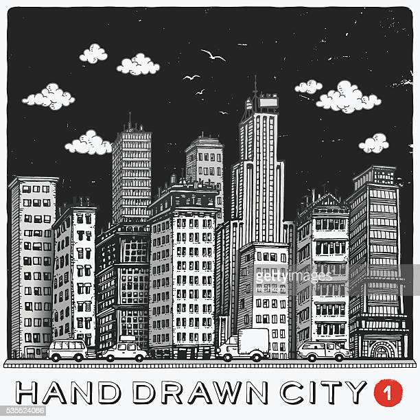Handgezeichnet Stadt