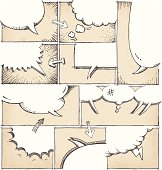 Hand Drawn Comic Book Page Template