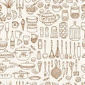 Hand drawn cookware.