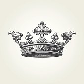 Hand drawn crown