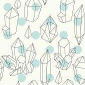 Hand drawn crystals