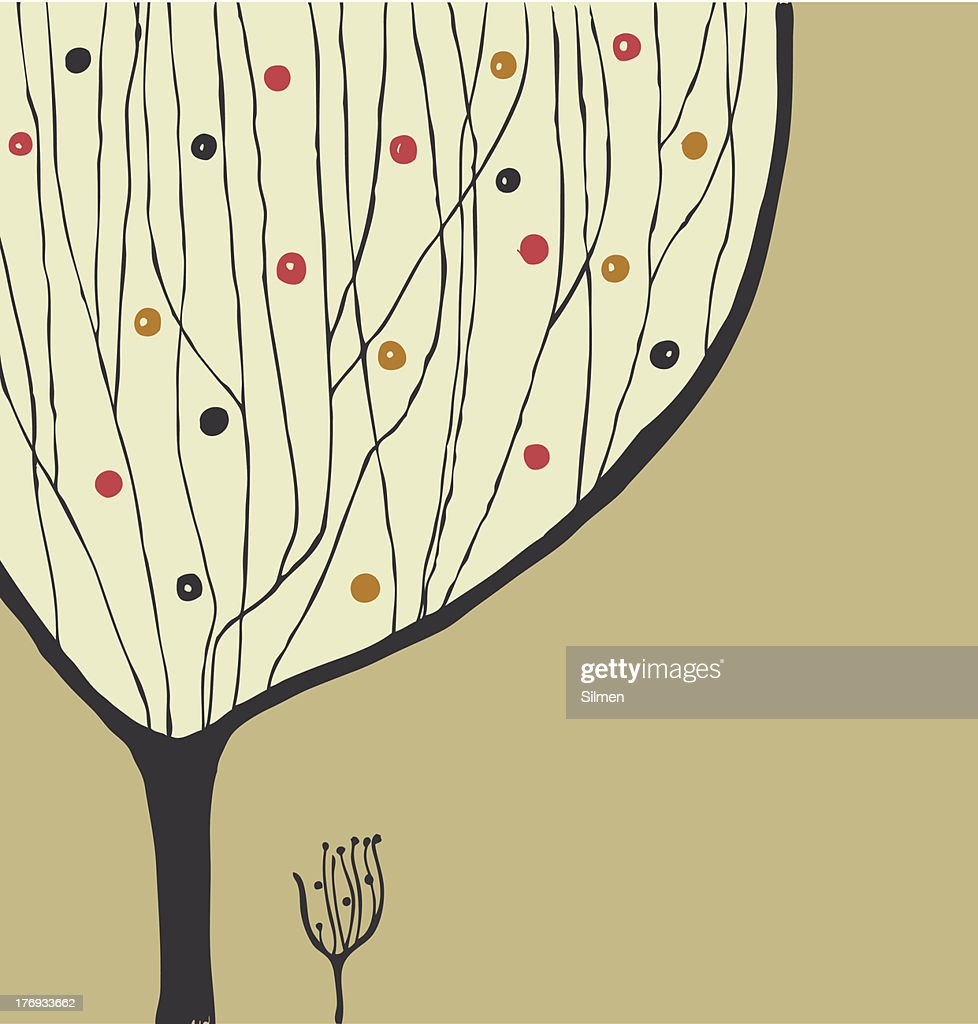 Hand drawn decorative tree