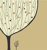 Hand drawn decorative tree