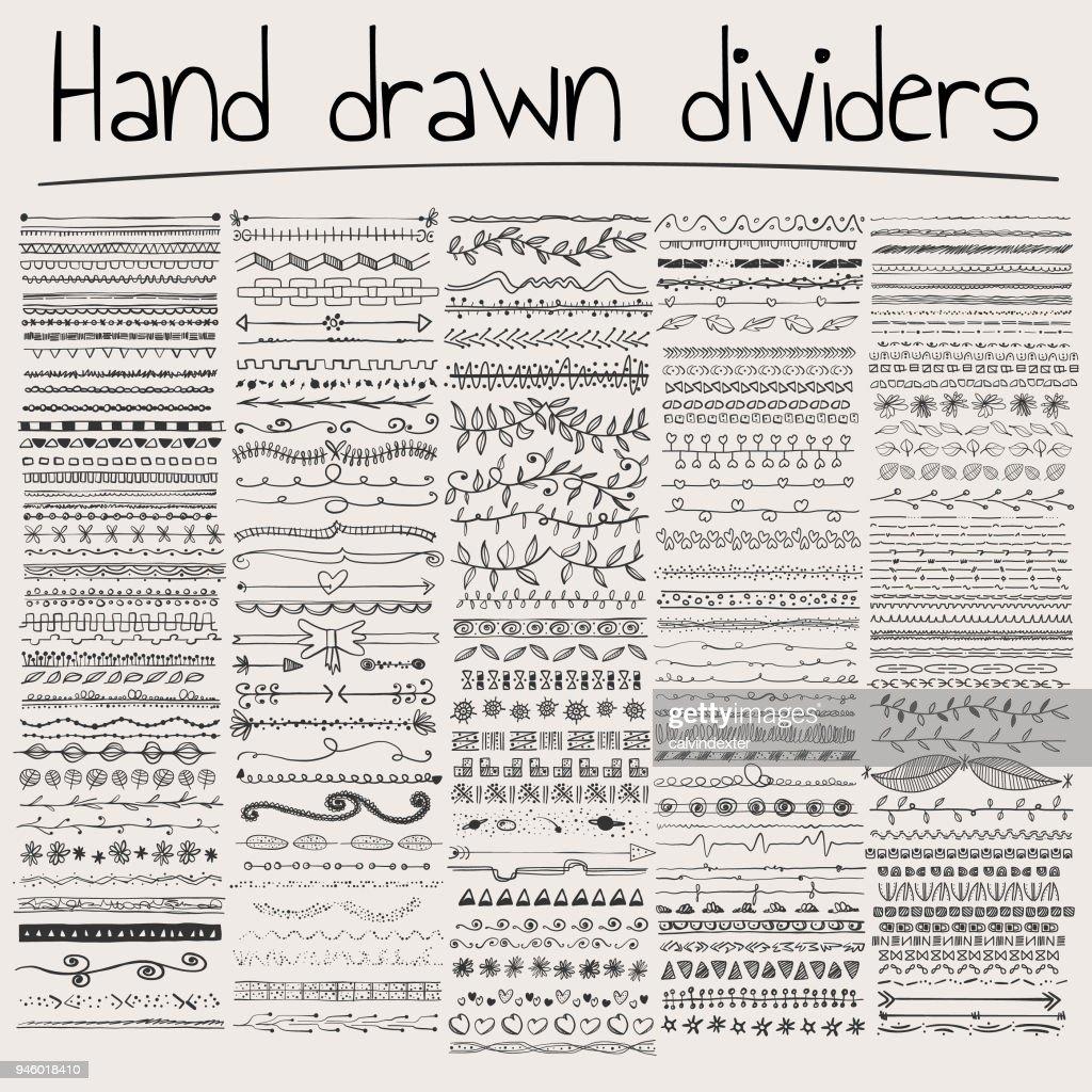 Hand drawn Trennwände : Stock-Illustration