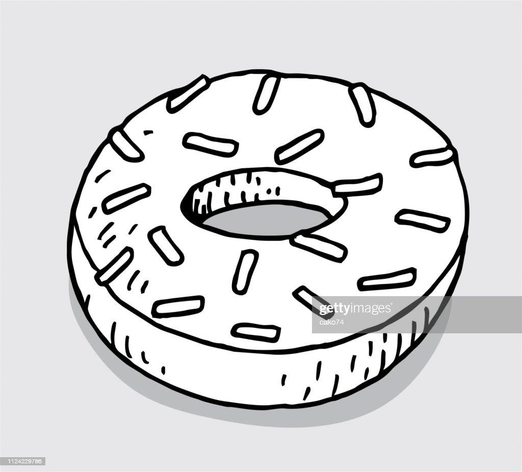 Hand drawn donut : stock illustration
